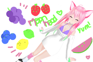 MMD Melon Head Texture Pack + DL by nyanami