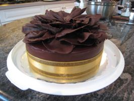 Chocolate Ruffle Cake by bloookkkerschtufin