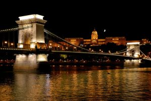 Chain Brigde and Buda Castle by CarlosBecerra