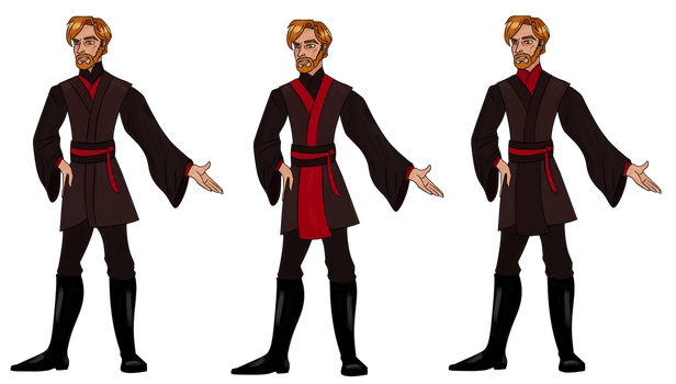 Sith Obi-Wan outfit designs by ponyhallo1