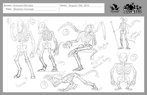 True Tail: Skeleton Concept 001 by SkynamicStudios