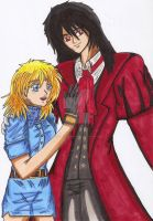 Alucard and Seras by MeghansDreamDesigns