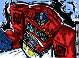 Colored Optimus Prime by MasterKrom