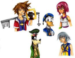 Kingdom Hearts Characters by big-white-house