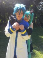 Vocaloid - Kaito and Miku by Mada-Chan2009