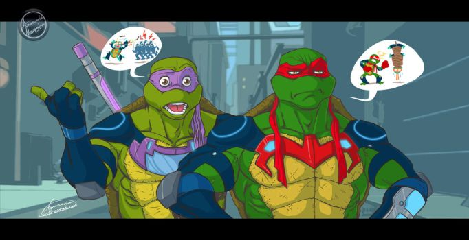 TMNT_Mikey in trouble...Again! by ariel025