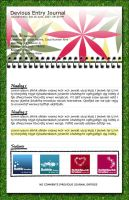 Notepad On Grass Template by cloud-no9