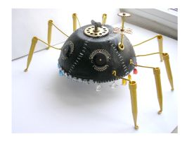 Steampunk sculpture spider by pushok1983