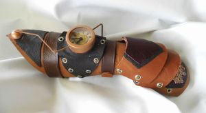 Steampunk Gauntlet by vanbangerburger