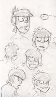 G-- Murdoc Sketches by LilLyon