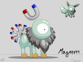 PokeFusion Magnemite + Eevee by Some1smarter