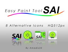 Paint Tool Sai Alternative icons by amadis33