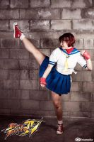 High Kick by MeguScarlet-Cosplay