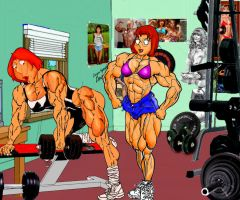 Lois and Meg Home Gym by grabowski2
