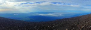 Magnificent panorama view from Mount Fuji by M1K3RU
