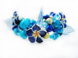 Bracelet - Dark blue garden by Benia1991