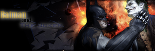 Signature: Batman and The Joker by MsterDeth