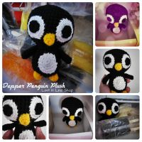 Dapper Penguin Plush by the-carolyn-michelle