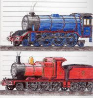 Schoolbook Sketches- Gordon and James by 01Salty