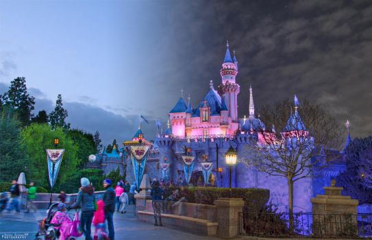 Day and Night at Sleeping Beauty's Castle by ExplicitStudios