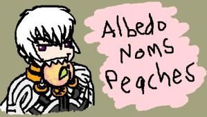 Albedo Noms Peaches by WafflesMcCoy