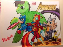 Avenger Ponies by paulabstruse
