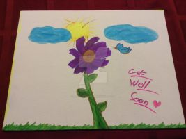 Get Well Soon Summer Painting by Artz4DaBands