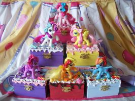 My Little Pony FIM Trinket Boxes by lessthan3chrissy