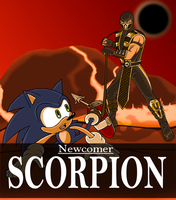 Sonic vs SCORPION by STEhq