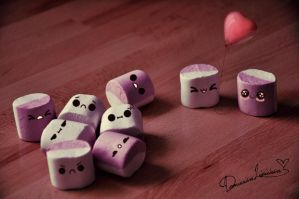 valentines marshmallows. by africansunn