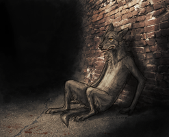 Against the wall by Canis-ferox