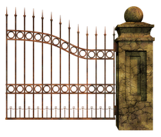 Graveyard Gate Right 2 PNG Stock by Roys-Art