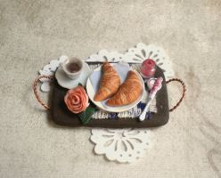 Morning Tray with Croissants by vesssper