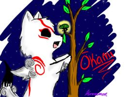 Okami-Ammy and Issun by Karramon
