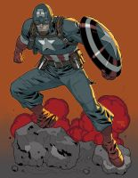 WW2 Captain America by K-Bol
