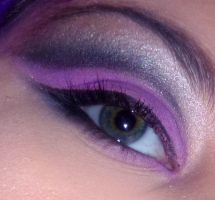 Black and purple makeup by VanillaBlitz