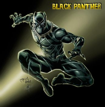 Black Panther (colors) by FantasticMystery