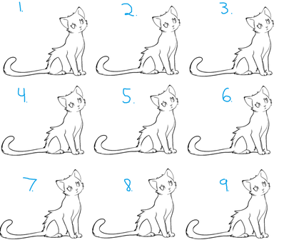 Paint-Friendly Cat Batch Lineart by oOAdoptablesRockOo
