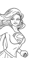 Supergirl Panel Art Inks by RichBernatovech