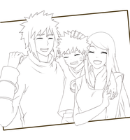 Naruto family LineArt by Lantello
