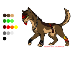 Canine character design by Shiloh-Tovah