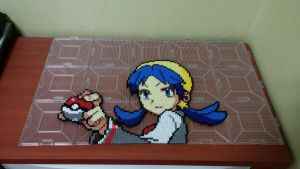 Pokemon Special Trainer Crystal(Perler beads) by skyin2020