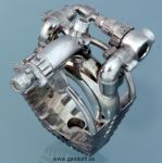 Sterling Silver Ring Motor V8 by Mikelm