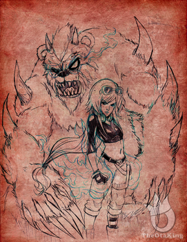 Future Annie and Final Form Tibbers pencils by sykoeent