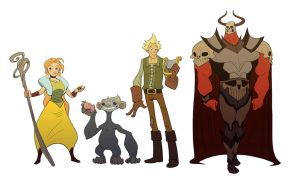 Prydain Character Lineup by KendallHaleArt