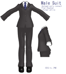 MMD- Male Suit -DL by MMDFakewings18
