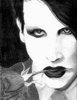 Maralyn Manson Charcoal by Flip-Side-of-Sanity
