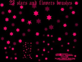 Stars and flower brushes by OMFGman
