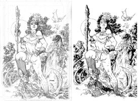 ink test - jim Lee's Rogue by Gorgorito