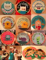 All my Adventure Time Hoops by loveandasandwich